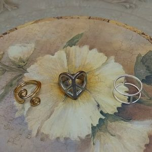 Jewelry - Set of three fashion rings - hippie/boho style